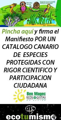 Por un Catálogo Canario de Especies Protegidas con rigor científico y participación ciudadana