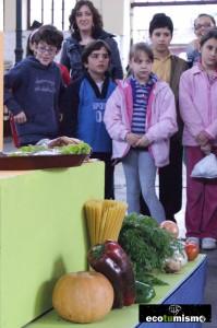 Taller de alimentación saludable dirigido a niños, dentro del proyecto de Ecogastronomía Comarca de la Sidra