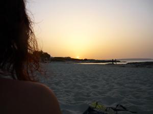 Puesta de sol en Es Calò de Sant Agustí