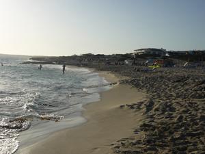 Playa de Es Arenals, al sur de la isla