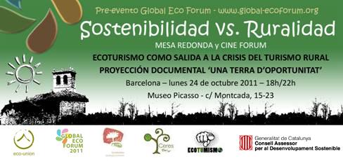 Retransmisión online: 24 (pre-GEF: Ruralidad vs. Sostenibilidad), 25 y 26 octubre (Global Eco Forum)