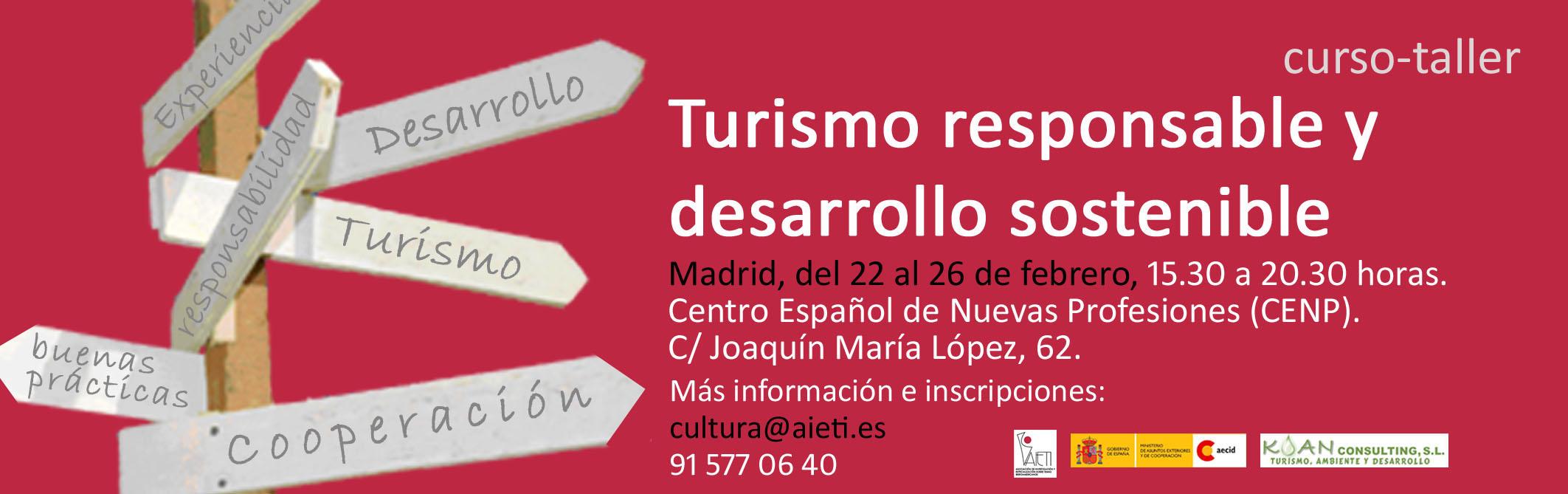 Curso de Turismo Responsable y Desarrollo Sostenible-Madrid
