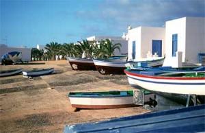 Barquitas de pesca en Caleta de Sebo