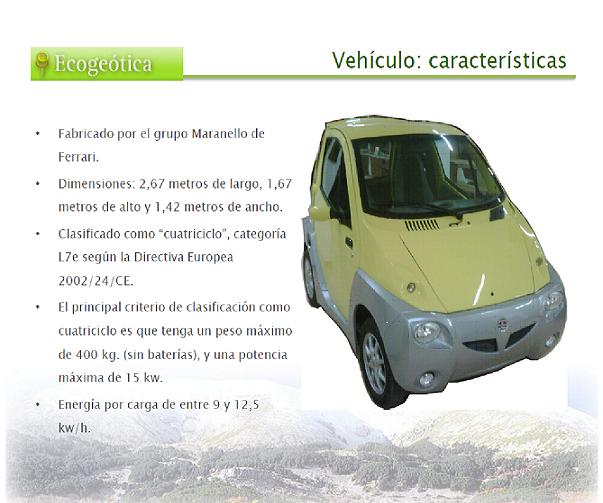 Características del vehículo