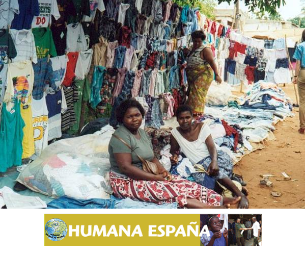 Dona tu ROPA USADA para proyectos de cooperación en ÁFRICA con Humana Spain