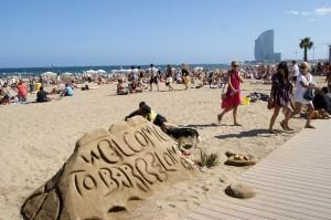 masificación de turistas en Barcelona